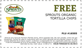 Free Organic Tortilla Chips at Sprouts Stores