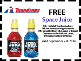 Free Space Juice Drink at Thorntons