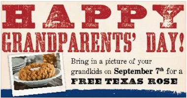 Free Texas Rose for Grandparents at Lone Star Steakhouse Today