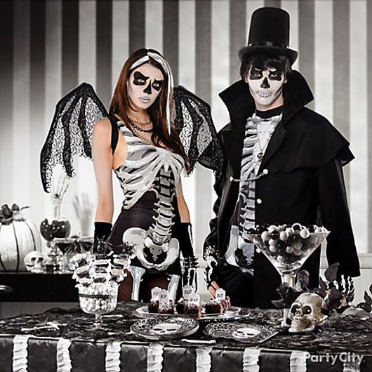 costumes skeleton party city