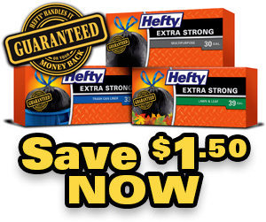 Hefty Trash Bag $1.50 Coupon at Target