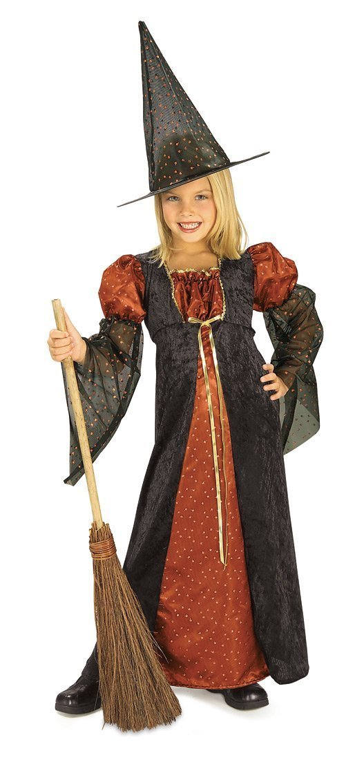 Halloween Concepts Child's Orange Glitter Witch Costume