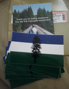 Free 5 Cascadia Stickers