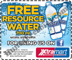 Free Resource Water at Xtra Mart