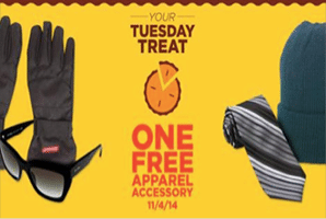 Free Apparel Accessory at Sears Outlet Stores (Today Only)