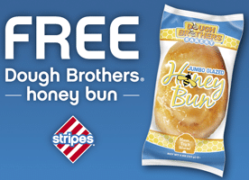 Free Jumbo Honey Bun at Stripes Stores