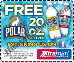 Free Polar Seltzer at Xtra Mart
