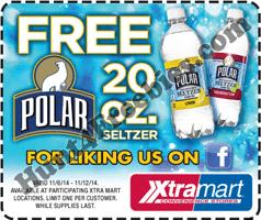 Free Polar Seltzer at Xtra Mart