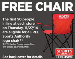Free Chair at Sports Authority Today  (In-Store)