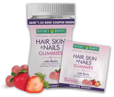 Free Nature's Bounty Hair, Skin & Nails Gummies Sample