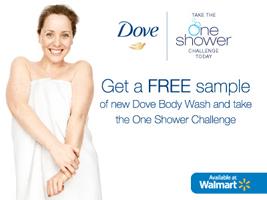 Free Dove Body Wash Sample
