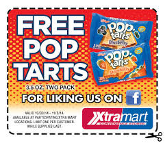 Free 2-Pack of Pop Tarts at Xtra Mart