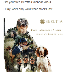 Free 2015 Beretta Calendar