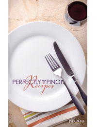 Free J. Lohr's Perfectly Pinot Recipe Booklet