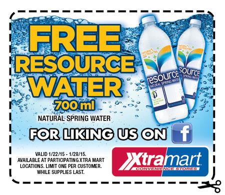Free Resource Water at Xtra Mart