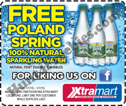 Free Poland Spring Sparkling Water at Xtra Mart