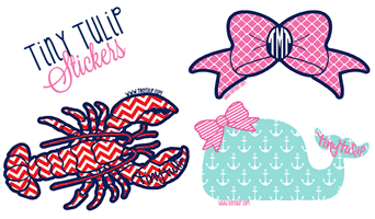 Free Tiny Tulip Stickers