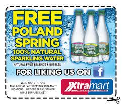 Free Poland Spring Sparkling Water at Xtra Mart