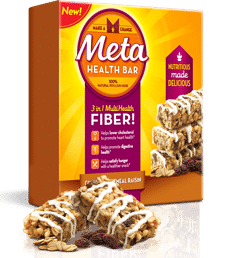 Free Metamucil Cinnamon Oatmeal Raisin Meta Health Bar