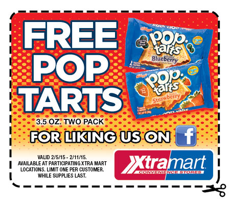 Free 2-Pack of Pop Tarts at Xtra Mart