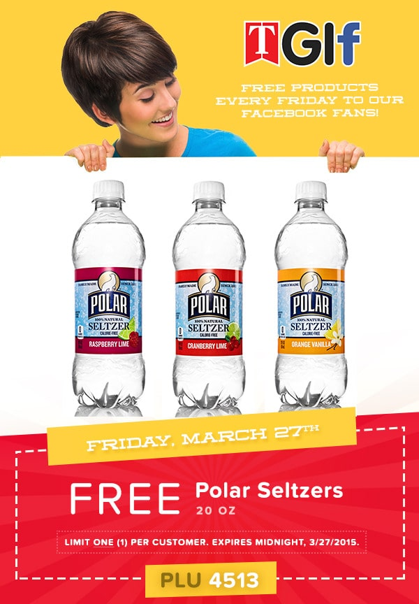 Free Polar Water At Tedeschi Food Shops