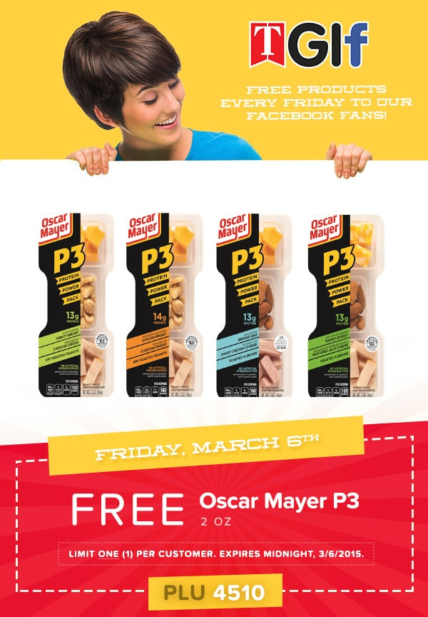 Free Oscar Mayer P3 Portable Protein Pack at Tedeschi Food Shops