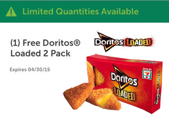 Free Doritos Loaded 2 Pack at 7-Eleven