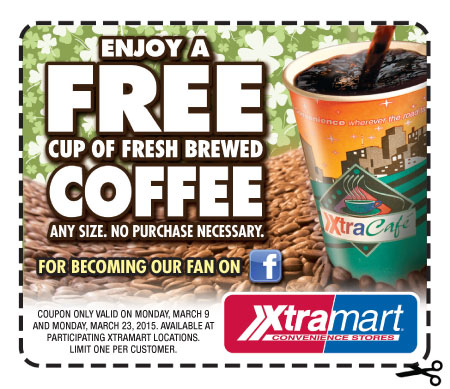 FREE Coffee At Xtra Mart Today Only