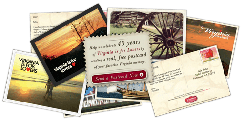 Free My Virginia Memory Postcard