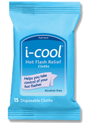 Free i-cool Hot Flash Relief Cloth Sample Pack