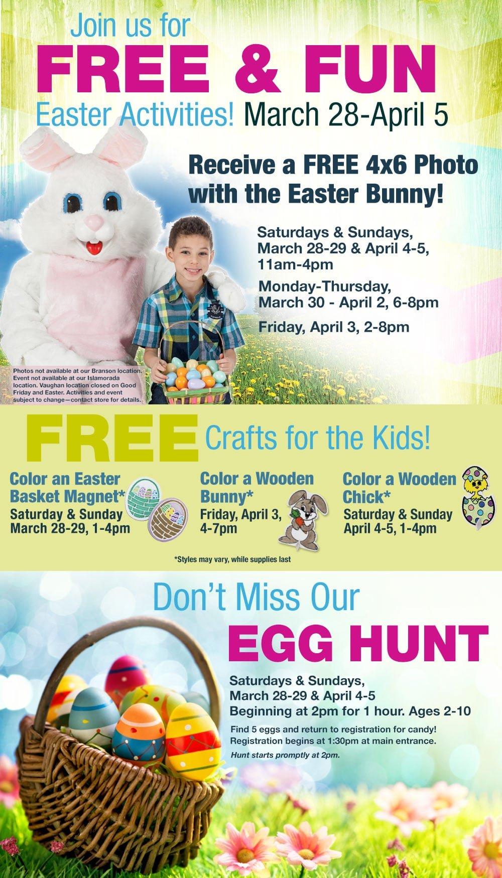 Free Easter Activities At Bass Pro Shop on March 28-29 and April 4-5