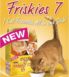 Free Purina Friskies 7 Cat Food Sample