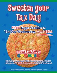Free Sugar Cookie at Great American Cookies on April 15
