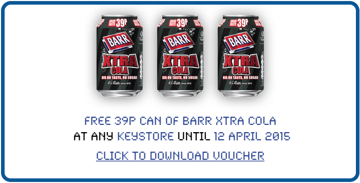 Free 39P Can Of Barr Xtra Cola At Keystore (UK Only)