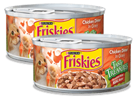 Free Can of Friskies Tasty Treasures Accented With Real Bacon (Coupon)