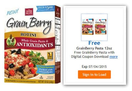 Free GrainBerry Pasta at Kroger (Expires July 4)