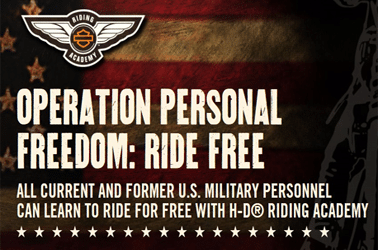 Free Riding Academy Training to All U.S. Military
