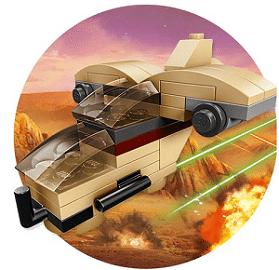 Free Lego Star Wars Make & Take Mini Wookiee Gunship at Toys R Us on 5/3