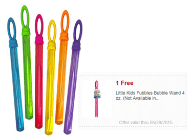 Free Little Kids Fubbles Bubble Wand at Meijer