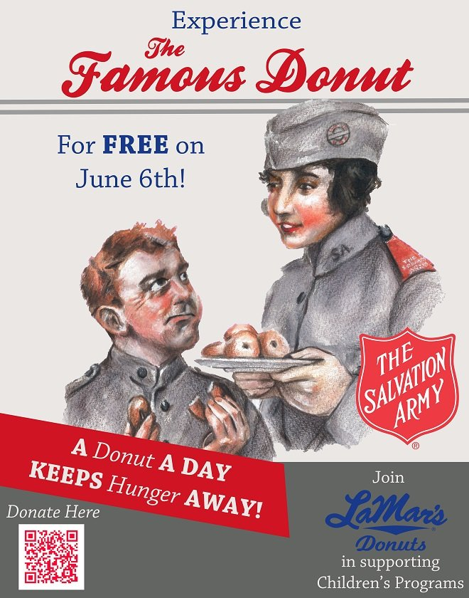Free Famous Donut for National Donut Day at LaMar's Donuts on June 6th
