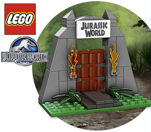 Free Lego Make & Take a Mini Jurassic World Gate at Toys R Us on 6/20