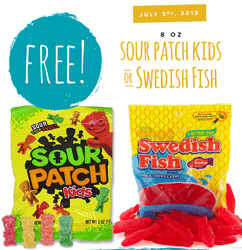 Free Sour Patch Kids or Swedish Fish at Tedeschi Food Shops on July 3 (Today)