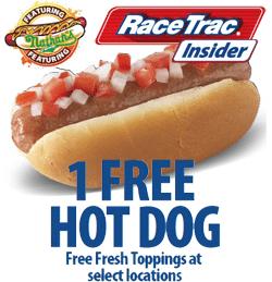 Free Hot Dog at RaceTrac