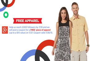 Free Piece of Apparel at Sears Outlet Stores on 7/28