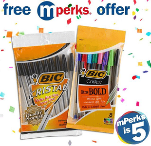Free Bic Cristal Pens at Meijer