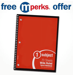 Free 70ct Notebook at Meijer