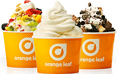 Free Frozen Yogurt for Kids at Orange Leaf