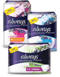 FREE Always Discreet Incontinence Underwear, Liner And Pad Multi-Pack Sample