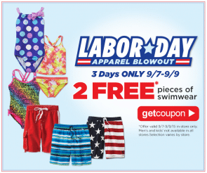 Free 2 Pieces of Swimwear at Sears Outlet Stores