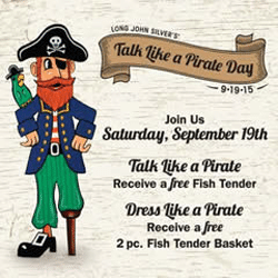 Free Fish at Long John Silver's on 9/19 (Must Talk/Dress Like a Pirate)